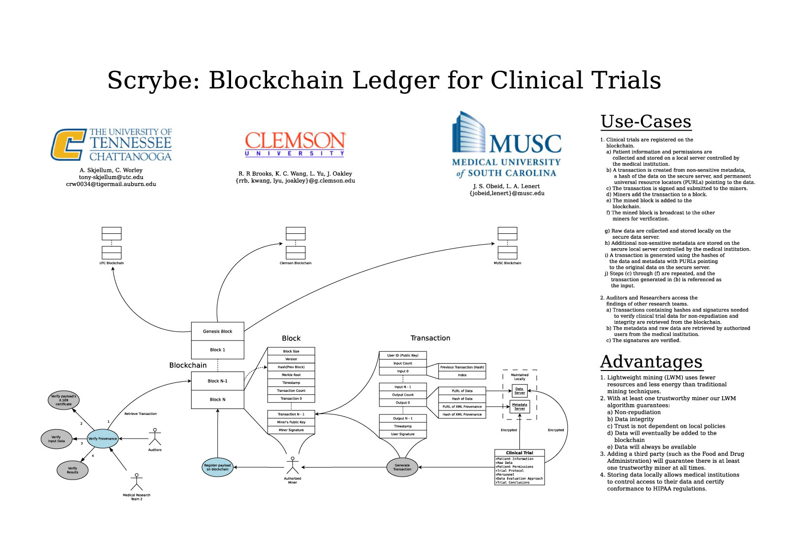 Scrybe: A Blockchain Ledger for Clinical Trials