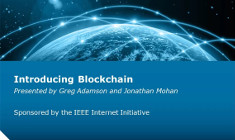 IEEE Internet Initiative Webinar: Introducing Blockchain
