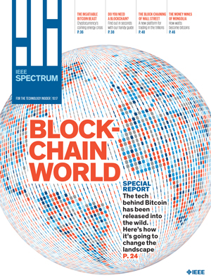 IEEE Spectrum, October 2017 - Blockchain World